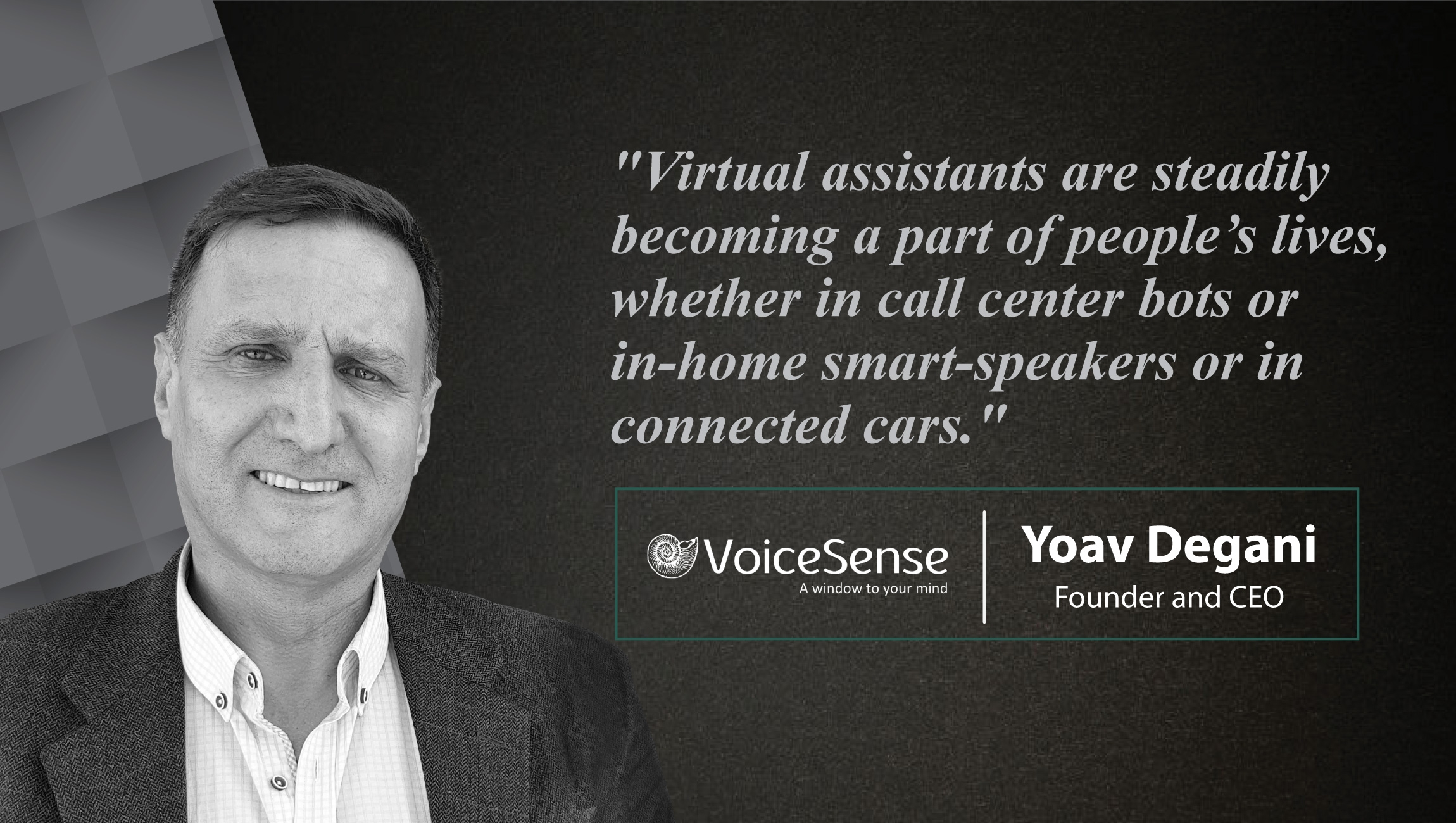 Interview with Yoav Degani, Founder and CEO, VoiceSense_cue card