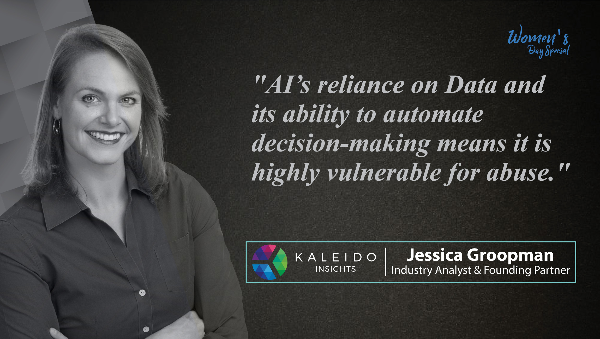 Jessica Groopman, Industry Analyst & Founding Partner at Kaleido Insights