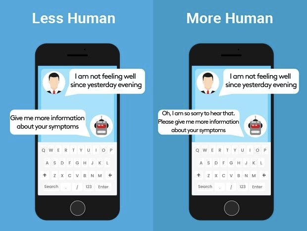 AI and NLP help chatbots interact in a more humanlike way.