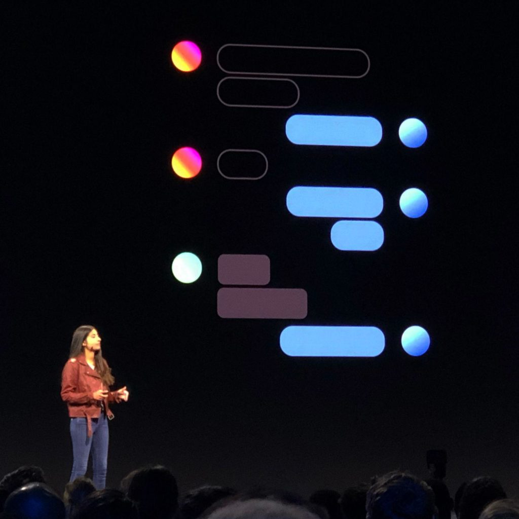 Facebook's Head of Messenger, Asha Sharma, discusses the interoperability between Messenger, Instagram, and WhatsApp at 2019's F8 conference.